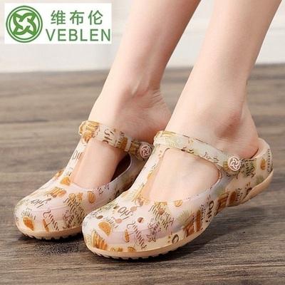 VEBLEN giày lỗ nữ - dép mùa hè chống trượt - giày đi biển - dép y tá - Dép y tế bệnh viện, spa, phòng khám